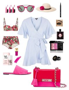 """Untitled #97"" by amy-lucioni on Polyvore featuring Topshop, Givenchy, Dolce&Gabbana, MAC Cosmetics, Eugenia Kim, Yves Saint Laurent, Robert Clergerie, Moschino, Gucci and Bobbi Brown Cosmetics"