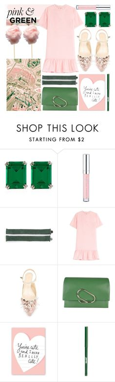 """""""pink & green"""" by foundlostme ❤ liked on Polyvore featuring CARAT*, Essence, Tasha, Once Upon a Time, Vanessa Bruno Athé, Delpozo, 3.1 Phillip Lim, Radstudio!, jane and ruffles"""
