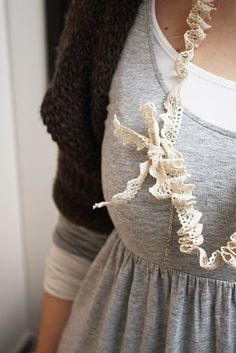 lace necklace diy