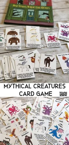 Mythical Creatures Card Game based on the book Miss Turies Magic Creatures via @karyntripp