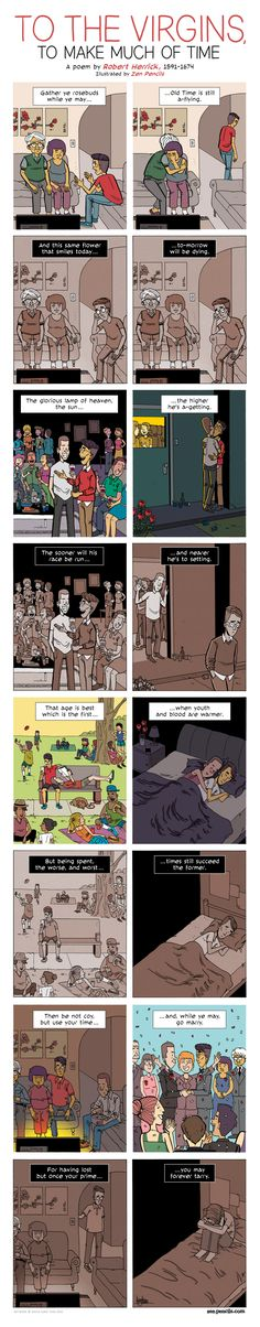 ZEN PENCILS » 187. ROBERT HERRICK: To the Virgins, to Make Much of Time