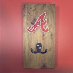 String art key holder Atlanta braves string art key holder, custom made. Only 1, great for house decoration or a GIFT to a friend!!! Accessories Key & Card Holders