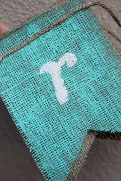 Spray painted burlap...Why didn't I think of that.