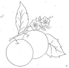Embroidery Stitches Tutorial, Embroidery Patterns, Hand Embroidery, Art Drawings Sketches Simple, Cute Drawings, Food Coloring Pages, Beautiful Flower Drawings, Fruit Art, Pen Art