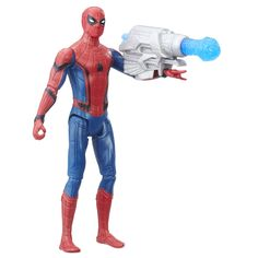 Spider-Man: Homecoming Spider-Man Figure, 6-inch. Figure inspired by the film, Spider-Man Homecoming. 6-inch scale action figure with multiple points of articulation. Includes poseable action figure, cannon, and projectile.