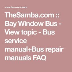 John deere horicon hydraulic attachments technical manual tm 1593 thesamba bay window bus view topic bus service manual fandeluxe Images