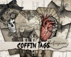 INSTANT DOWNLOAD    coffin tag    You get one high-resolution (300dpi) .jpg file   with 8 tags. 10x5,6cm   without watermark     You get a
