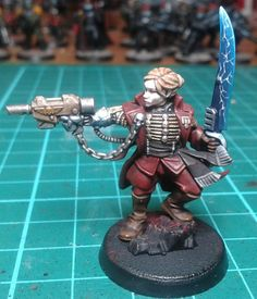 YorkNecromancer, Rogue Trader conversion from new plastic commissar and Statuesque miniatures head