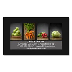 Customizable modern elegant magnetic business card template with professional studio photos of vegetables. Perfect for catering company, food service, nutrition coach, health consulting, personal chef. Carpet Cleaning Business, Cleaning Business Cards, Elegant Business Cards, Business Card Design, All You Need Is, Magnetic Business Cards, Standard Business Card Size, How To Clean Carpet, Card Templates