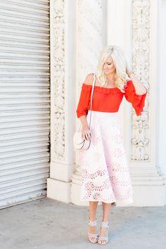Ruffle Top + Pink Skirt - Mckenna Bleu