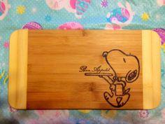 Snoopy Cutting board  on Etsy, $25.00 CAD