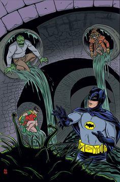A new villain strikes Gotham, one who can put fear into the heart of even Batman—The Scarecrow! Batman 1966, Batman Art, Batman And Superman, Batman Robin, Marvel Dc Comics, Batman Stuff, Comic Books Art, Comic Art, Mike Allred