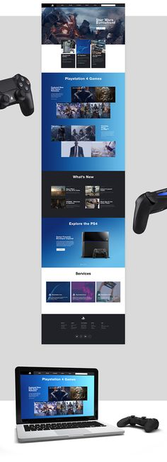 Playstation.com Redesign Concept on Web Design Served