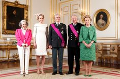 Official photoshoot on the occasion of King Philippe accession to the throne of Belgium.