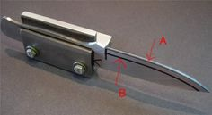 Knife clamp for beveling http://www.britishblades.com/forums/showthread.php?35912-Blade-Grinding-(My-way)-lot�s-of-Pic�s