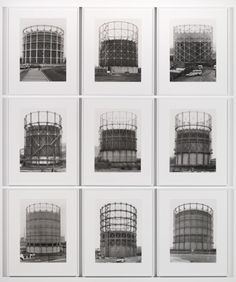 Bernd Becher and Hilla Becher 'Gas Tanks', 1965–2009 © Estate of Bernd Becher…