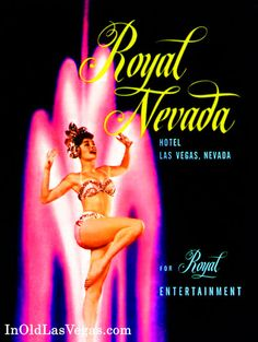Royal Nevada Casino's Mid-Fifties Advertisement with Showgirl.