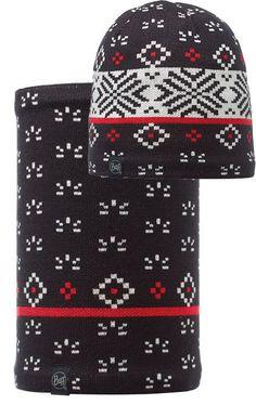 Buff Czapka Knitted & Polar Jorden Black + Komin Neckwarmer Buff Knitted Polar Fleece JORDEN BLACK