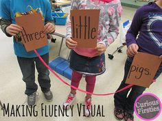 SO doing this lesson soon! How to help kids really understand fluency- in a VISUAL way!