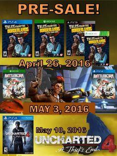 #Lanzamientos para #Mayo pre ordene su copia ahora, visite nuestro sitio web en  http://www.latamgames.com/master_es.php  #mayoristas #distribuidores #videojuegos #jogos #xboxone #xbox #xbox360 #ps3 #ps4 #ps2 #psv #psvita #3ds #wii #wiiu #Juegos #proveedores #ventasdevideojuegos #Borderlands #Uncharted #Battleborn #Ventas #PlayStation #promoción #latinoamerica  #LatamGames #HashTags