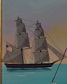 America's Cup - San Francisco 2013:  painting of sailing ship