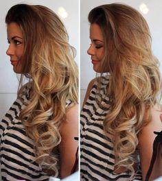 dirtyblonde, girl, hair, stripes