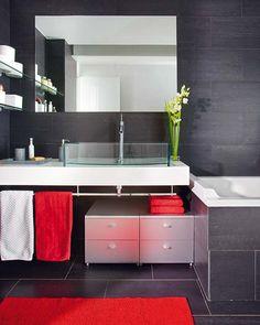 Black Bathroom Design Idea That Isn't Dark and Creepy | DigsDigs