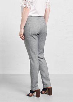 Kalhoty ze směsi lnu a bavlny Mango, Suits, Fashion, Manga, Moda, Fashion Styles, Suit, Wedding Suits, Fashion Illustrations