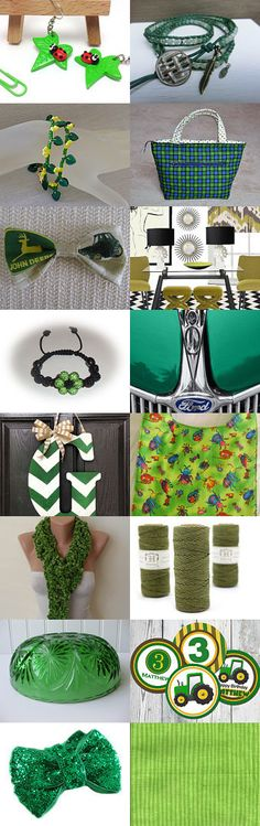 Green With Envy by Amanda  Johnson on Etsy--Pinned with TreasuryPin.com #christmasinjuly