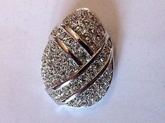 Christian Dior Pendent  Silver Tone Pendent paved by EstatesInTime