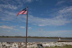 Old Fort Jackson Flag in Savannah, GA
