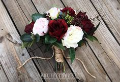 Boho Bouquet Burgundy Blush Bouquet Bridal Bouquet Wedding