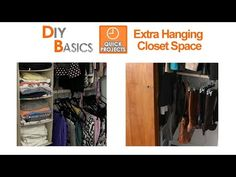 Crowded Closet? See how you can double up your hanging room in just minutes with this easy DIY project - you'll get more room to hang clothes, bags and long ...