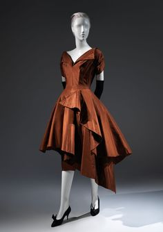 Charles James (American, born Great Britain, 1906–1978). Evening dress, 1952. The Metropolitan Museum of Art, New York.  Brooklyn Museum Costume Collection at The Metropolitan Museum of Art, Gift of the Brooklyn Museum, 2009; Gift of Mrs. R. A. Bernatschke, 1955 (2009.300.213a, b) #CharlesJames