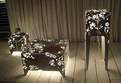 Laser cut lamp tables!!