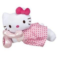 Hello Kitty Cuddle Bed Pillow in Pink Dress Talking on Phone  Order at http://amzn.com/dp/B0013I00KI/?tag=trendjogja-20