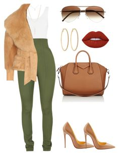 """""""Untitled #563"""" by amoney-1 ❤ liked on Polyvore featuring Yummie by Heather Thomson, Balmain, Cutler and Gross, Forever 21, Givenchy, Christian Louboutin, Lime Crime and Roberta Chiarella"""