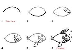 How To Draw Fish Cartoon Fish Drawing Clipartsco Photo How To Draw Fish Cartoon Fish