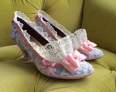 Marie Antoinette Costume Heels Shoes Rococo Baroque Fantasy