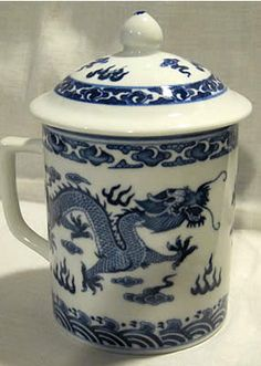 Chinese Tea Cup - Blue Dragon Tea Cup