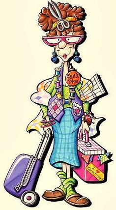 Quilt Retreat - here I come! But who took that picture of me? Me and Jan are ready to go. Red Brolly, Sewing Humor, Quilting Quotes, Sewing Quotes, Art Impressions, Digi Stamps, Quilt Patterns, Machine Embroidery, Needlework