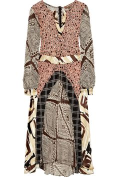 Printed silk-blend georgette dress by Duro Olowu, I'd wear this if I could afford it..lol