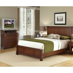 Home Styles The Aspen Collection King Bed/ Media Chest (The Aspen  Collection King Bed