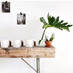 Ceramic Mugs, Floating Shelves, Teak, Planter Pots, My Etsy Shop, Ceramics, Handmade Ceramic, Wood, Instagram Posts