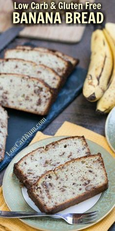 A delicious low carb banana bread that uses real fruit in a moderate amount to keep carbs low. Each slice only has about 5 grams of net carbs.   http://LowCarbYum.com