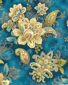 La Scala 3 - Italian Floral Wonder - Sapphire/Gold fabric.