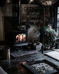 Living room decor ideas cozy interior design 7 – www.Bodrumhavadis… Living room decor ideas cozy interior design 7 – www. Witch Cottage, Witch House, Japanese Interior Design, Japan Interior, Interior Office, Kitchen Interior, Goth Home, Gothic Home Decor, Gothic Interior