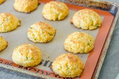 How to make Cheddar Chive Drop Biscuits recipe from scratch. Great as a side dish for dinner or to take to a potluck!