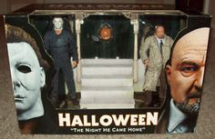From NECA. Halloween, Michael Myers vs. Dr. Loomis