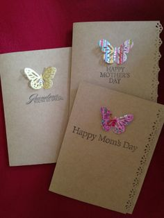 A set of 3 handmade Mother's day card (Grandma you're so special /Happy Mother's Day)